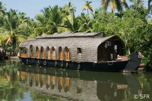 Hausboot auf den Backwaters