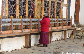 Jambey Lhakhang Tempel betender Mönch